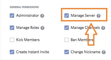 discord manage server