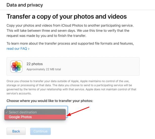 icloud google foto transfer 1