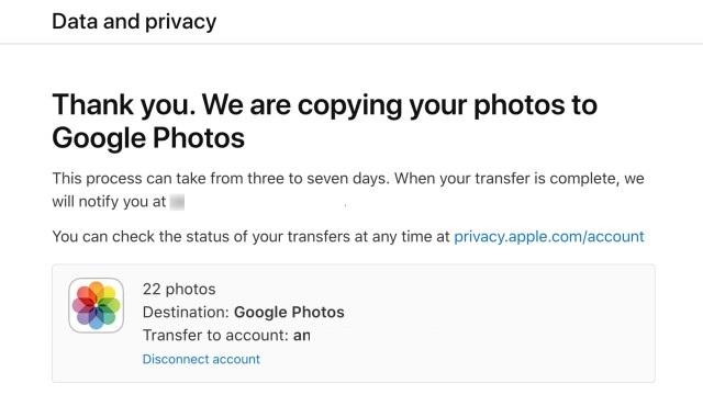 icloud google foto transfer mail