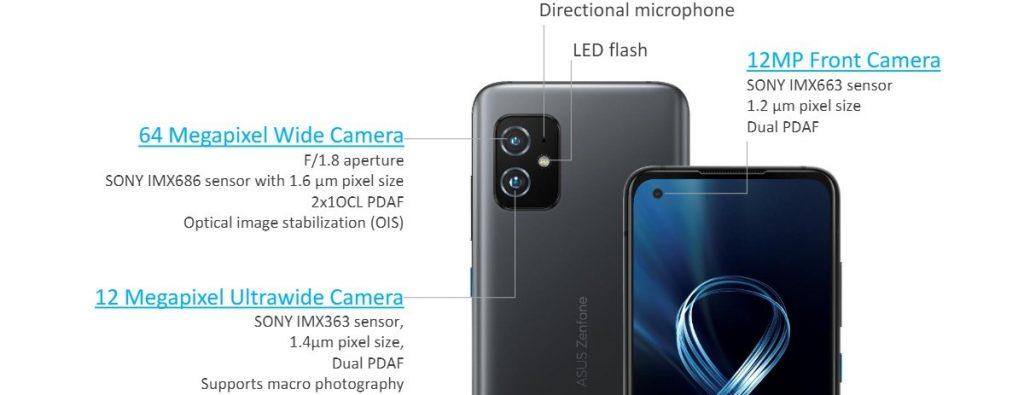 asus zenfone 8 kamera