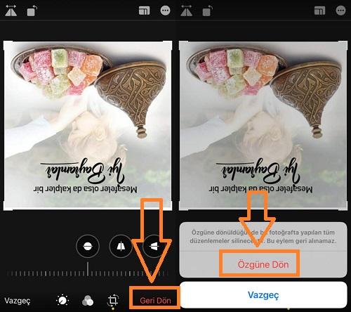 iphone fotografi orijinal haline dondurme