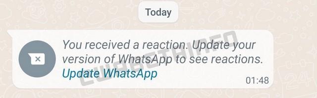 WhatsApp tepki mesaji